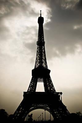 Eiffel Tower Silhouette Art Print