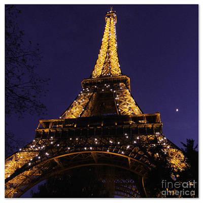 Photograph - Eiffel Tower Sparkles by Heidi Hermes