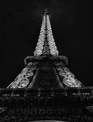 Photograph - Eiffel Tower Stark by Robert Meyers-Lussier