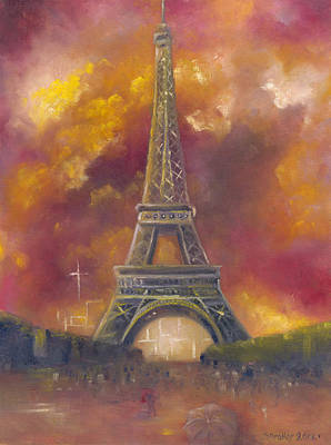 Painting - Eiffel Tower  by Stephanie Broker