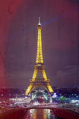 Photograph - Eiffel Tower Texture by Joshua McDonough