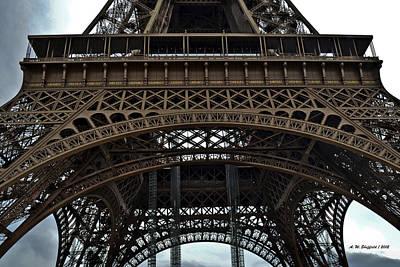 Photograph - Eiffel Tower - The Forgotten Names by Allen Sheffield