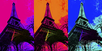 Eiffel Tower Three 20130116 Print by Wingsdomain Art and Photography