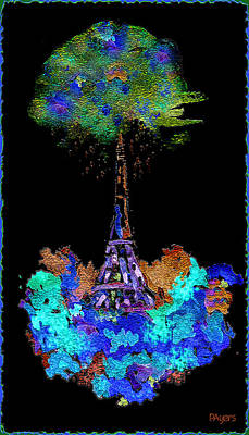 Painting - Eiffel Tower Topiary by Paula Ayers