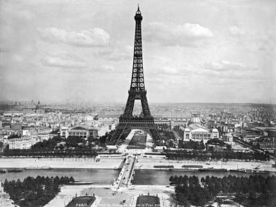 Eiffel Tower Print by Underwood Archives