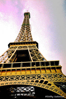 Eifell Tower Photograph - Eiffel Tower Up Close 2 by Bobby Uzdavines