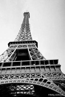Eifell Tower Photograph - Eiffel Tower Up Close by Bobby Uzdavines
