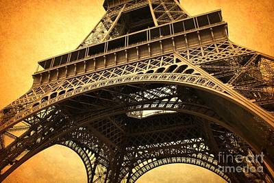 Photograph - Eiffel Tower - Vintage by Carol Groenen