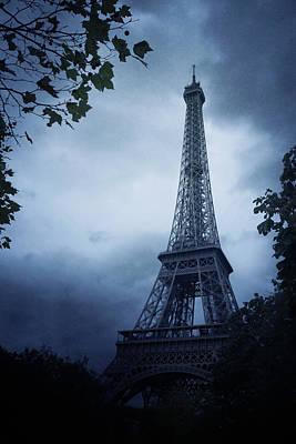 Eerie Photograph - Eiffel Tower by Cambion Art
