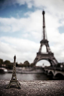 Travel Photograph - Eiffel Trinket by Ryan Wyckoff