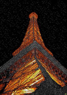 Paris Digital Art - Eiffels Romance by David Lee Thompson