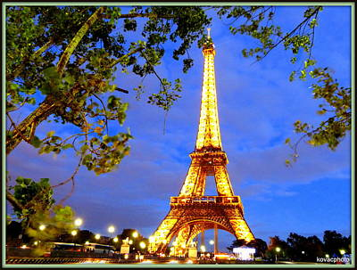 Photograph - Eiffel's Tower by David Kovac