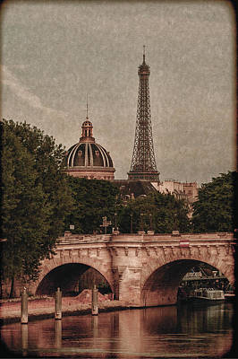 Eiffeltower With Pont Neuf Art Print