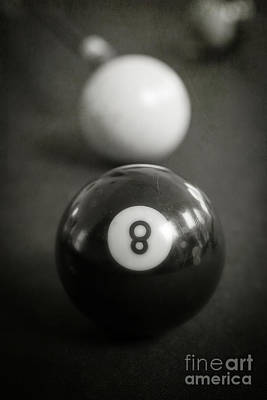 Cue Ball Photograph - Eight Ball by Edward Fielding
