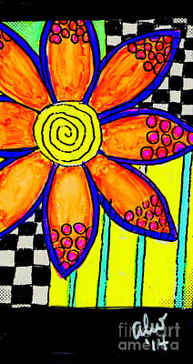 Painting - Eight Bright Petals by Angela L Walker