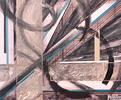 Lines Mixed Media - Eight Lines by Andres Carbo