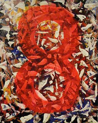 Painting - Eight Red. by Paul Pulszartti
