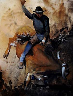 Painting - Eight Second Ride by Stefon Marc Brown