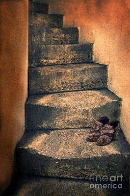 Photograph - Eighteenth Century Shoes On Old Stairway by Jill Battaglia