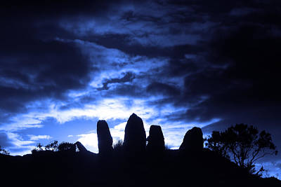 Photograph - Eightercua Stone Alignment by Aidan Moran
