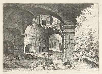 Sight Drawing - Eighth Sight Of The Colosseum In Rome, Italy by Artokoloro