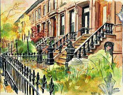 Painting - Eighth Street by Nancy Wait