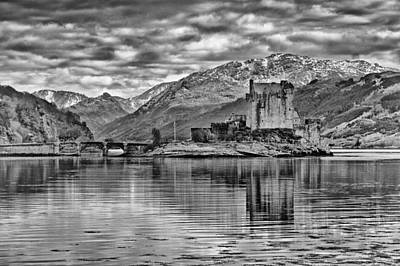 Photograph - Eilean Donan - A Reflection Without Colour by Chris Boulton