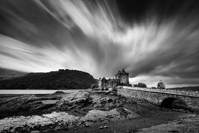 Old Western Photograph - Eilean Donan Castle 2 by Dave Bowman