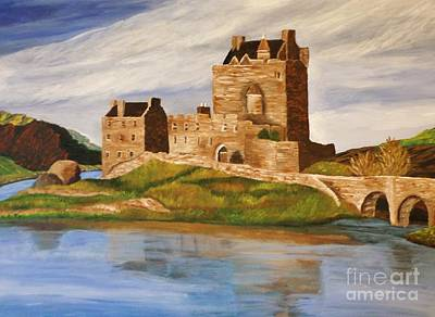 Painting - Eilean Donan Castle by Christy Saunders Church