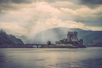 Eilean Donan Castle With The Loch Duich Art Print