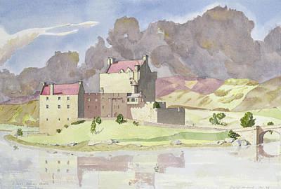 Brick Painting - Eilean Donan by David Herbert
