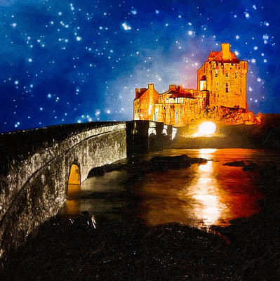 Castle Photograph - Eilean Donan - Scottish Highland Fantasy by Mark E Tisdale