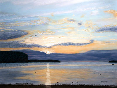 Pastel - Eileen's Sunset by George Burr