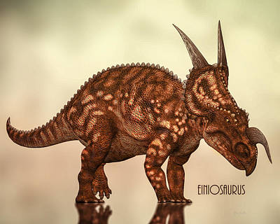 Photograph - Einiosaurus by Bob Orsillo