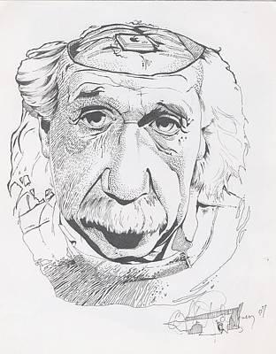 Alex Rodriguez Drawing - Einstein by Alex Rodriguez