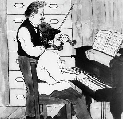 Einstein And Ehrenfest Duet In Leiden Print by Emilio Segre Visual Archives/american Institute Of Physics