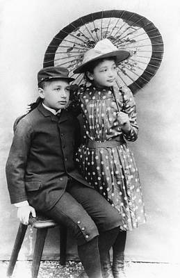 Einstein Photograph - Einstein And His Sister Maja by Emilio Segre Visual Archives/american Institute Of Physics