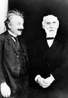 Einstein And Lorentz Art Print by Emilio Segre Visual Archives/american Institute Of Physics