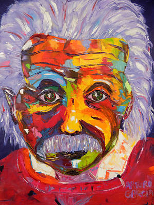 Atomic Mixed Media - Einstein by Arturo Garcia