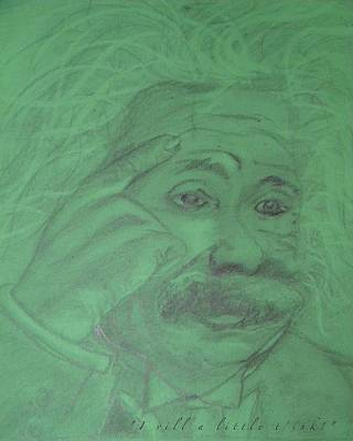 Drawing - Einstein Card by Manuela Constantin