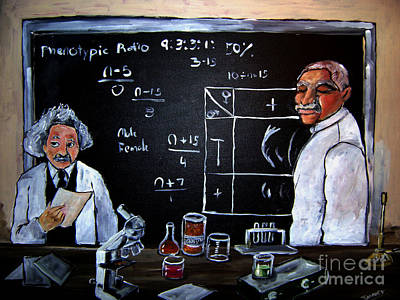 Painting - Einstein/carver Experiments by Sidney Holmes