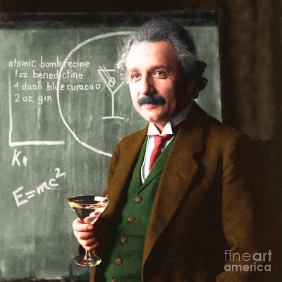 Photograph - Einstein Discovers The Atomic Bomb 20140910 Square by Wingsdomain Art and Photography