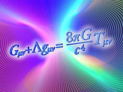 Einstein Field Equation Art Print by Alfred Pasieka