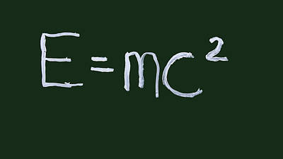 Photograph - Einstein Formula by Phil Cardamone