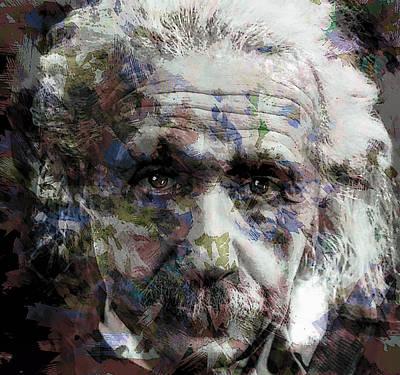 Einstein Genius Art Print by Daniel Hagerman