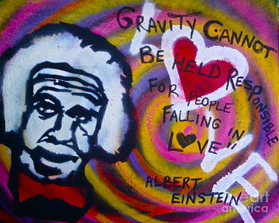 Free Speech Painting - Einstein Gravity by Tony B Conscious