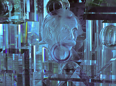 Photograph - Einstein In Crystal - Blue by Christi Kraft