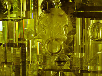 Air And Space Museum Photograph - Einstein In Crystal - Yellow by Christi Kraft
