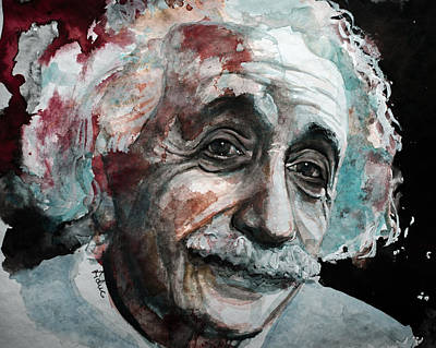 Painting - Einstein  by Laur Iduc