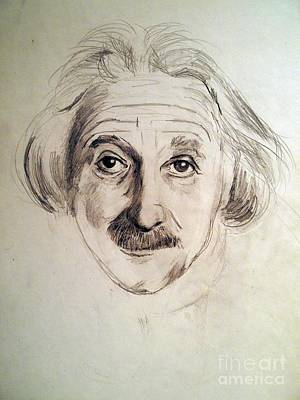Einstein Drawing - Einstein by Nancy Kane Chapman